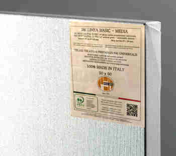 Tela linea basic media 80x100 (Made in Italy)